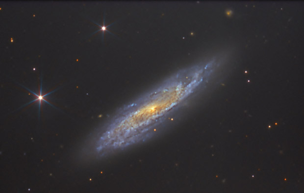 Image of NGC2770 obtained using OSIRIS at the GTC. This special galaxy, located 100 million light-years away, is called the Supernovae factory, since it has hosted two supernovae and an X-ray flash in the last 9 years. Credits: OSIRIS / Daniel L�pez (IAC)