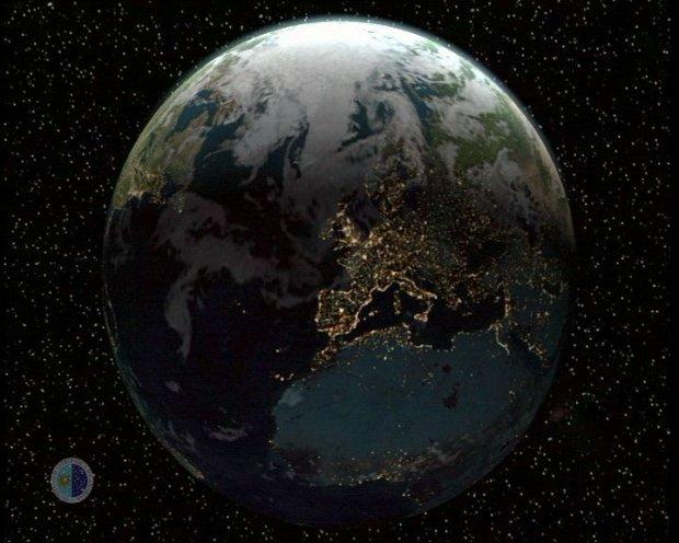 La Tierra vista desde el espacio.-  CR�DITOS: SMM, Instituto de Astrof�sica de Canarias